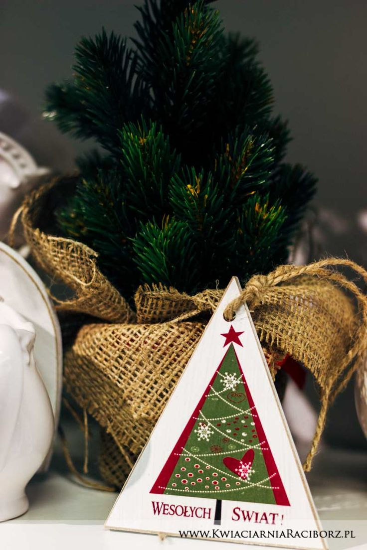 Christmas tree & wooden board