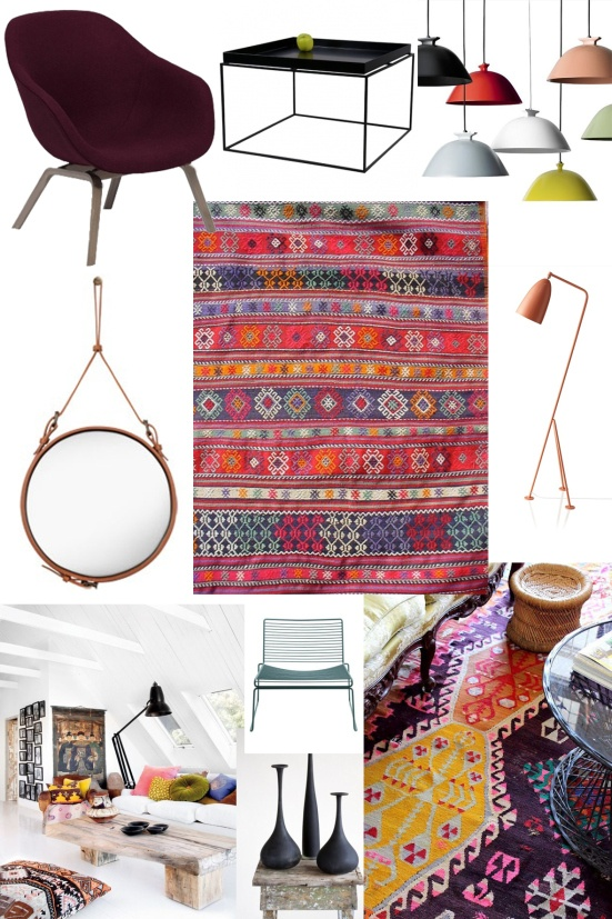 traditional Anatolian Muna Home Kilims are at @diseno_istanbul store now