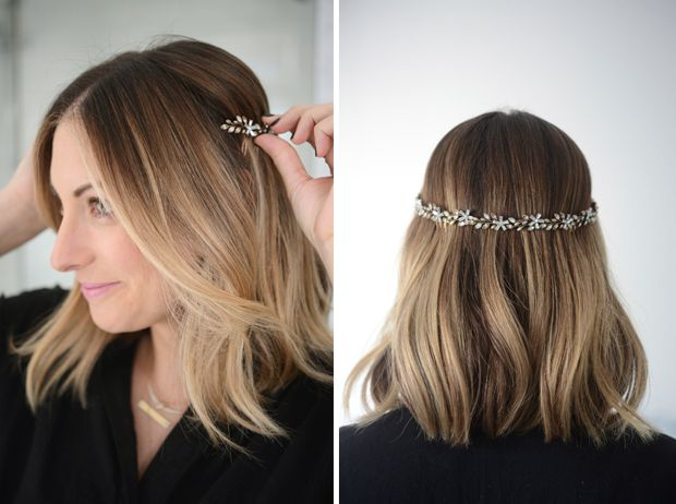 Floral Hair Band From The Back