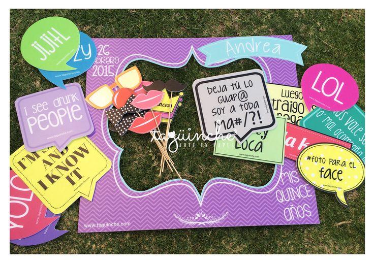 Letreros para fiesta de xv a os - Marcos de fotos originales ...