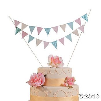 Teddy Bear Picnic :: Cake Topper - bunting ($3.50 at Oriental Trading)