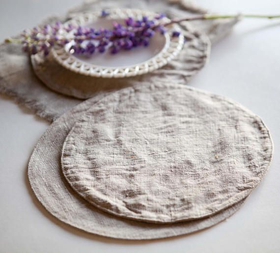 Round nautical, super comfortable placemats for table