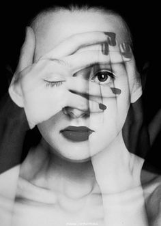 Faces: Photos by Diana Chyrzynska Photo-manipulated series of self portraits.