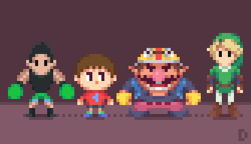 Super Low Res Brothers (Part 2) Pixel Artist:Davitsu Source:davitsu.tumblr.com  Part 1 can be found here