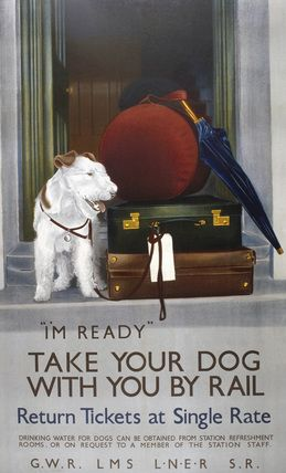 Vintage British Railways Take Your Dog By Train Poster A3 / A2 Reprint