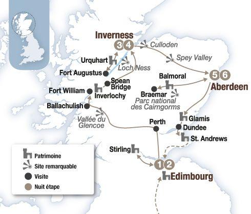 Circuit voiture Ecosse : La route des châteaux et terres de légende - Brittany Ferries