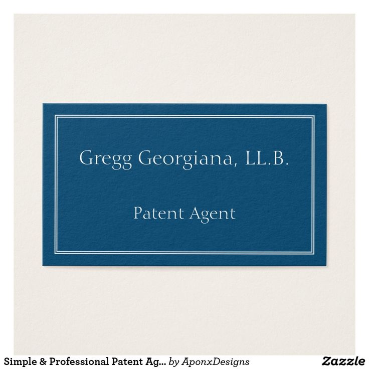 Simple & Professional Patent Agent Business Card