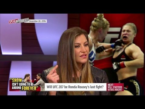 Speak For Yourself On FS1: Miesha Tate: If Ronda Rousey loses to Amanda Nunes, she's done