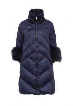 Пуховик, Odri, цвет: синий. Артикул: OD001EWLWT08. Женская одежда / Верхняя одежда / Пуховики и зимние куртки