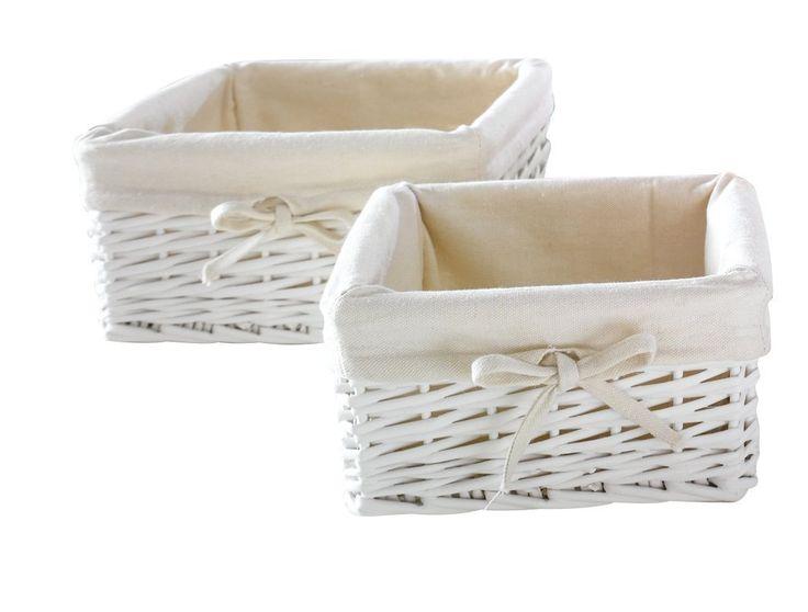Weißes Füllkörbchen. Eckig (2er Set): Amazon.de: Küche U0026 Haushalt