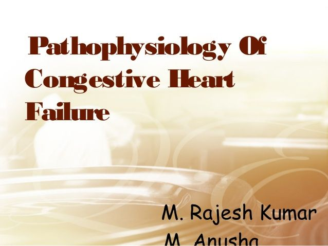 Pathophysiology Of  Congestive Heart  Failure    M. Rajesh Kumar