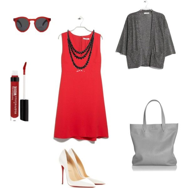 Everyday look by annaturcato on Polyvore featuring moda, MANGO, Christian Louboutin, LACAMBRA, Bling Jewelry and Illesteva
