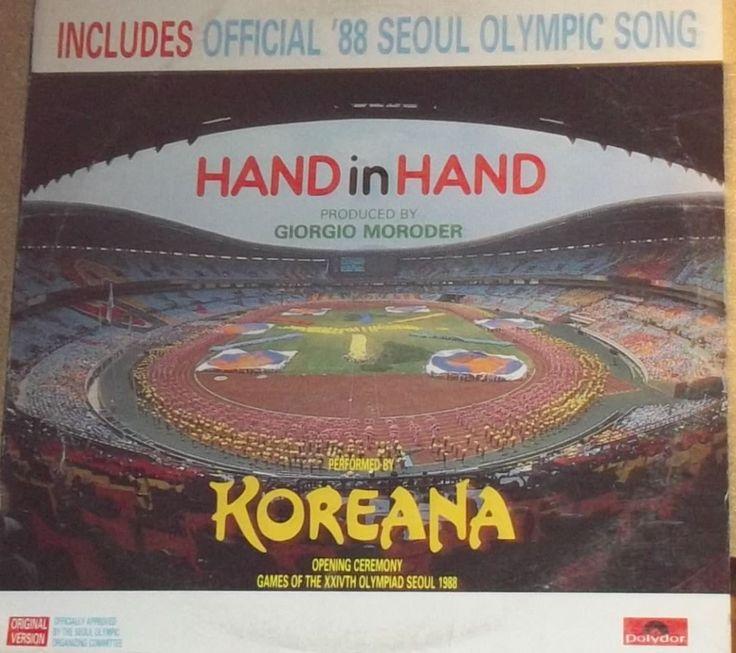 Koreana Hand In Hand Giorgio Moroder Seoul Olympics Song Vinyl Record Promo Album by RASVINYL on Etsy