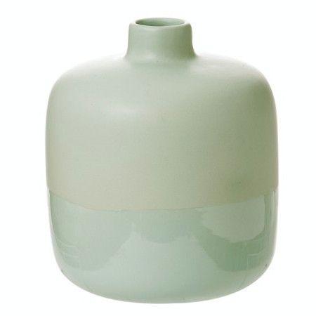 LET LIV - Dipped Ceramic Vase in Mint Green