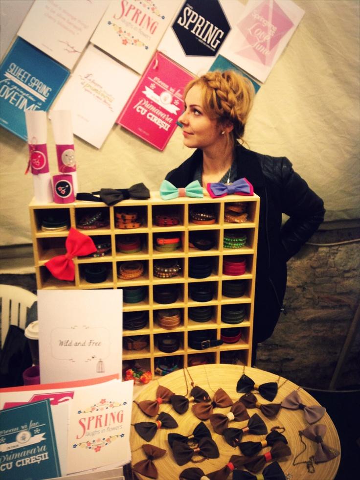 Cireșica Didi a  Cherry & Cherry PRINTS @cherrycherry90 la Targul de Martisul de la Casa TIFF | #cherry, #prints, #quotes, #handmade, #fair