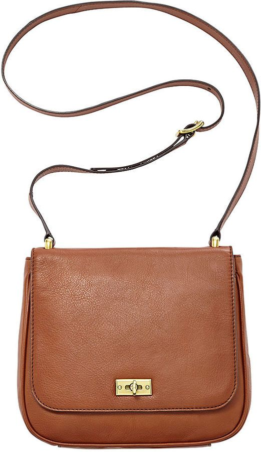Brown Leather Crossbody Bag By Fossil For 110 From Macy S Bags Pinterest And