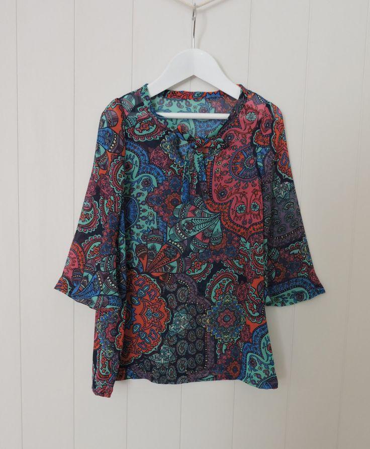 Girls Dress, Size 3, Handmade, Bohemian, Hippy, Chiffon, Colourful, New, Australian made by dezignhub on Etsy https://www.etsy.com/au/listing/476553321/girls-dress-size-3-handmade-bohemian
