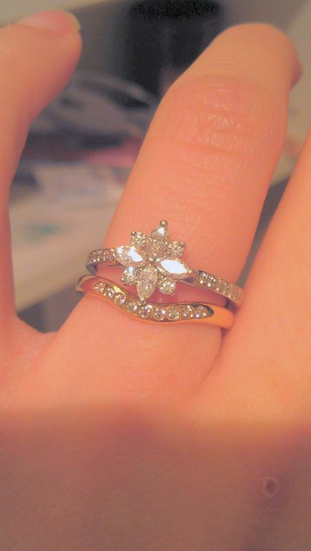 Show me your Cluster Ring with Wedding Band - Weddingbee