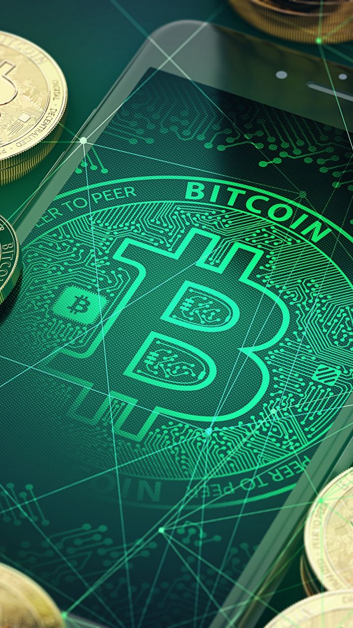 Bitcoin Abstract Crypto Currency 720x1280 Wallpaper Mineracao