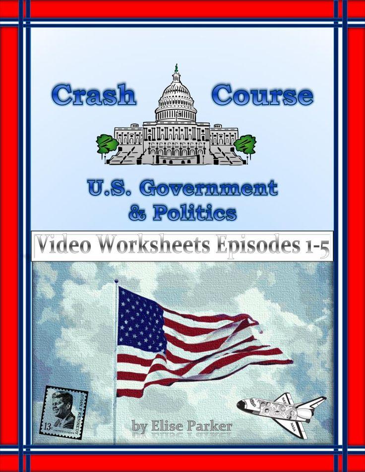 crash course u s government worksheets episodes 1 5 set of politics and the script. Black Bedroom Furniture Sets. Home Design Ideas