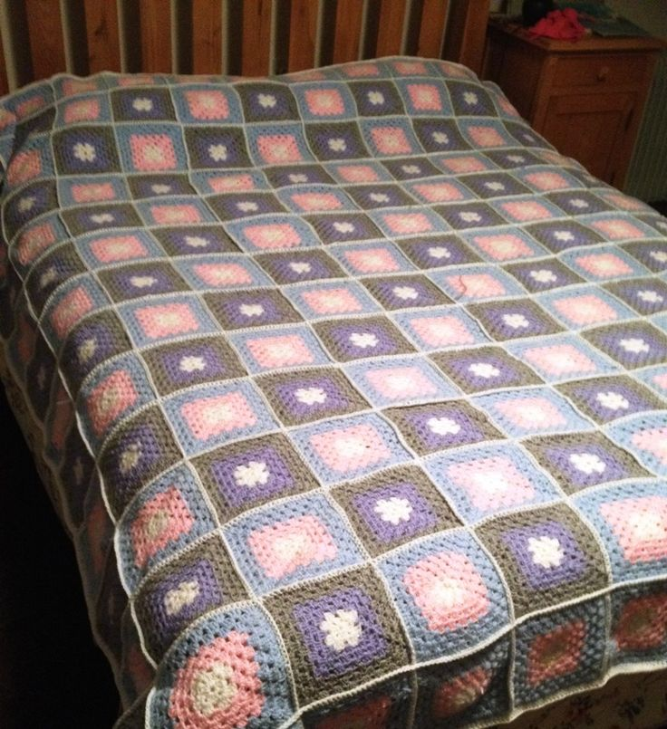 Mullahoran Parish Crochet Quilt - granny squares all done by members of Apostolic Workers for 2014 Sale of Work - in aid of African missions