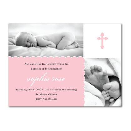 Invitations - cute idea for baptism!