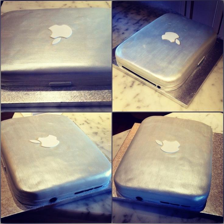 Apple computer cake....<3