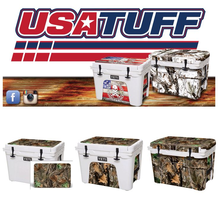 Www usatuff com manufactures premium graphic skin wraps for application on high end · yeti cooler