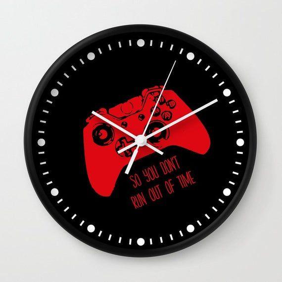 Gamer Room Video Game Clock, Gamer Clock, Gamer Wall Clock, Gamer Gift, Gaming Gift, Dorm Room Decor