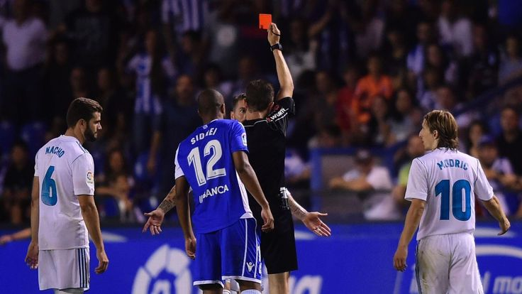 Real Madrid's Sergio Ramos sets red card record: All 24 sendings off