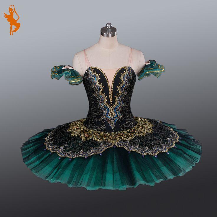 Preto Tutus de Balé Profissional BT639 Meninas Ballet Tutu Tutu de Balé Profissional Preto Verde PancakeTutus Profissional Verde(China (Mainland))