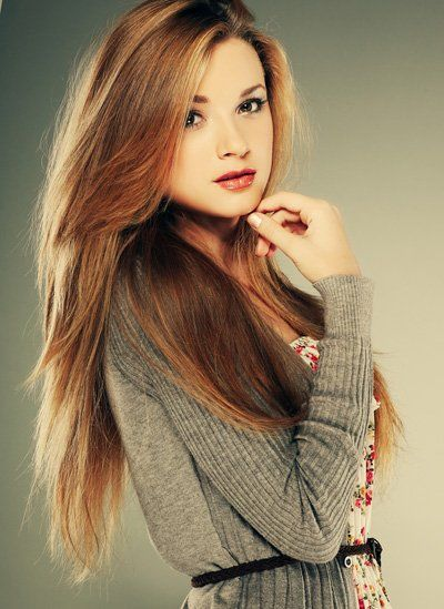 beautiful, brown, hair, straight hair