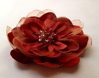 Bouquet di fiori spilla fiore corpetto di tessuto fiori in