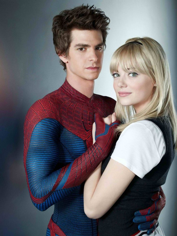 Spiderman and Gwen Stacy (Andrew Garfield and Emma Stone)  [*wants to see this movie now*]