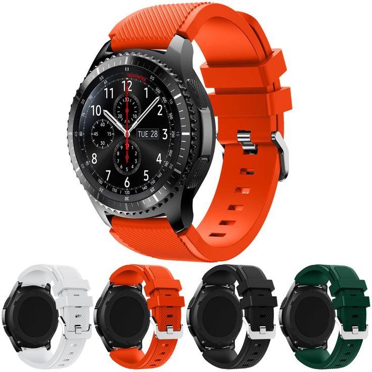 Üstün yeni moda spor silikon bilezik saat kayışı band samsung gear için s3 frontier ekim 13