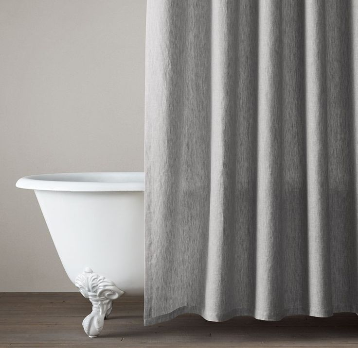 Restoration Hardware Warranty: Vintage-Washed Belgian Linen Shower Curtain In 2019
