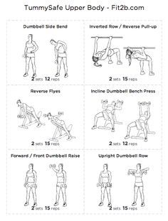 tummy safe workouts fit2b - Google Search