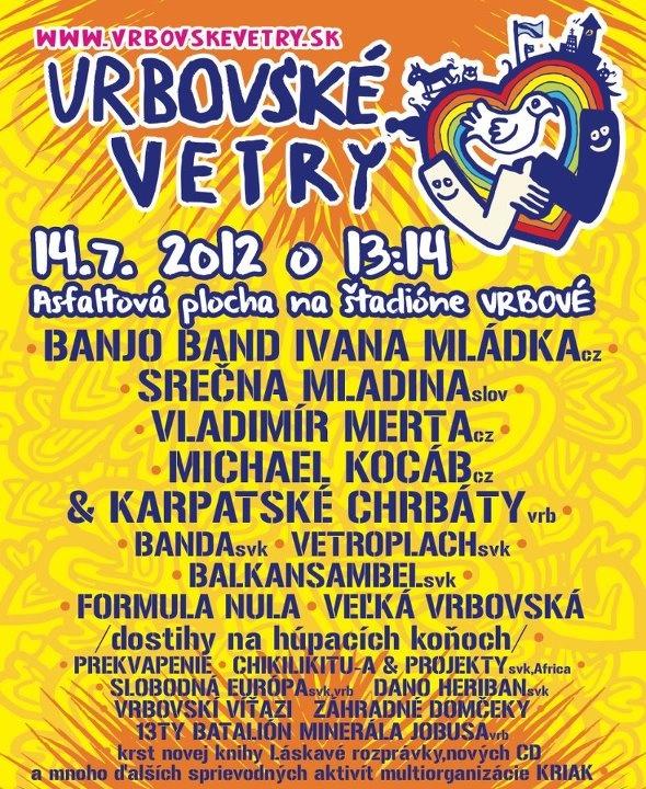 Vetroplach Vrbovské vetry leto 2012 festival hudba music vrbové