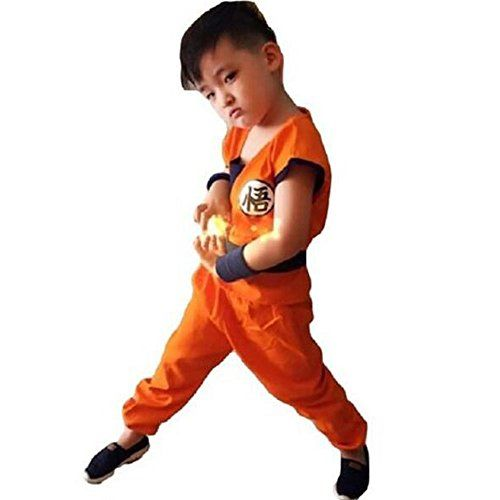 HOLRAN Dragonball Son Goku Costume 5-piece set Cosplay Uniform Orange