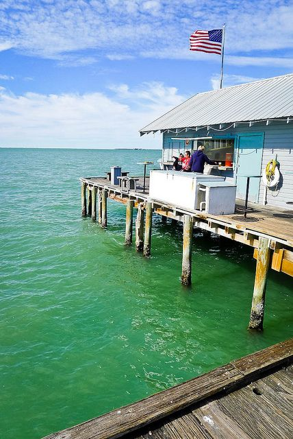 Anna Maria Island Pier Restaurant.... I spent a lot of my childhood watching this fish of the pier.