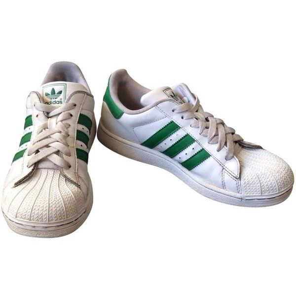 Superstar leather trainers ADIDAS ($72) liked on Polyvore