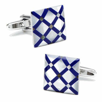 Lapis Diamond Cufflinks by Cufflinksman