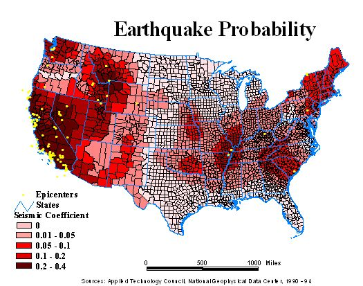 California Earthquakes Today Map California Map - Us earthquake map