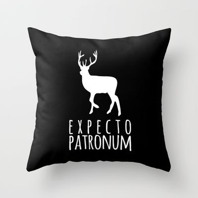 Expecto Patronum - Harry Potter Throw Pillow by Lauren Ward  - $20.00
