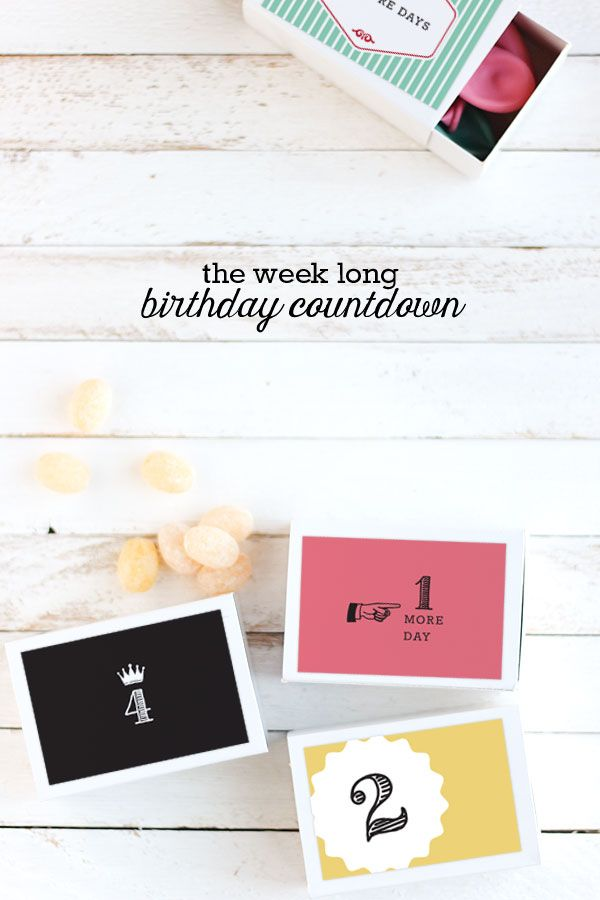The Week Long Birthday Countdown – Make birthdays extra special with this simple birthday tradition! Why limit the birthday festivities to just one day, when you can celebrate all week long!