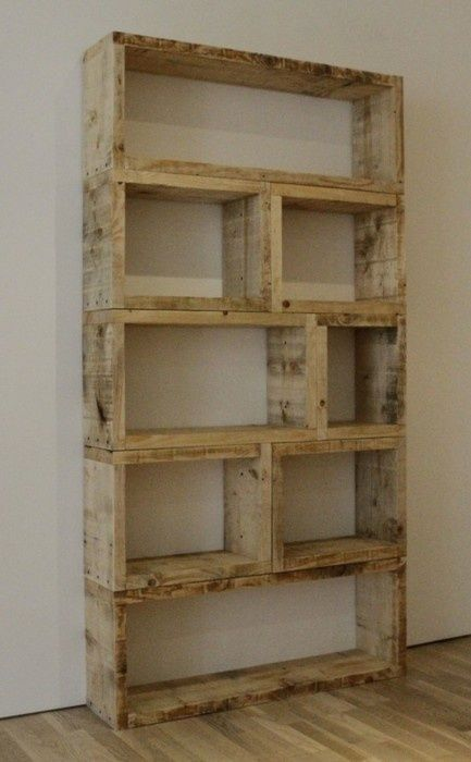 DYI book shelf out of pallets!