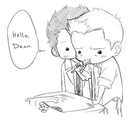 Image result for destiel fan art