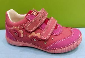 D.D.step tmavě růžové boty na suchý zip 31-36