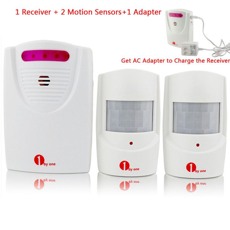 Outdoor Wireless Driveway Motion Alarm Chime Alert System 2 Sensor  Adapter