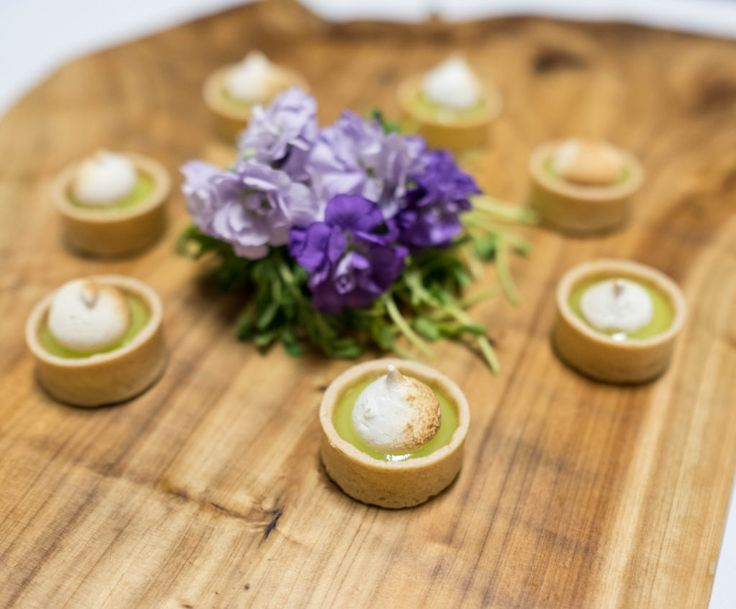 Miniature Key Lime Tartlettes with  torched marshmallow